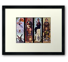 All characther haunted mansion Framed Print