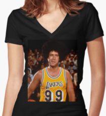 6da63502ac8d Fletch Lakers Women s Fitted V-Neck T-Shirt
