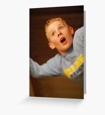 Falling Boy Greeting Card