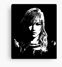 Final Fantasy XIII Lightning - Black and White Canvas Print
