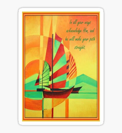 In All Your Ways Acknowledge Him Greeting Card Sticker
