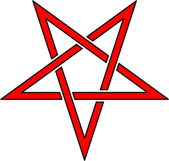 Inverted Pentagram Symbol Posters By Gruml Redbubble