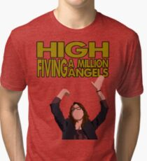 Liz Lemon - High fiving a million angels Tri-blend T-Shirt