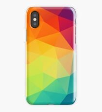 colorful crystal pattern iPhone Case
