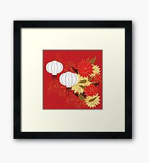 Chinese Lantern with Flowers 3 Framed Print