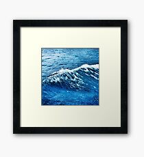 blue waves and splash Framed Print