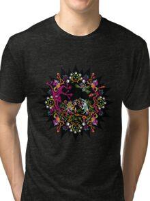 Aztec meeting psychedelic T-shirt Tri-blend T-Shirt