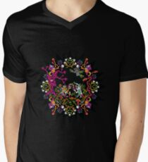 Aztec meeting psychedelic T-shirt Men's V-Neck T-Shirt