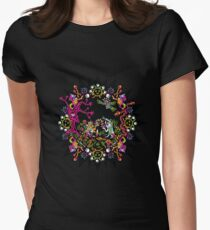 Aztec meeting psychedelic T-shirt Women's Fitted T-Shirt