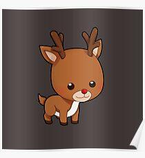 Adorably Cute Reindeer Poster