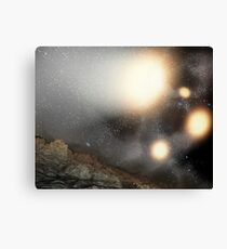 The night sky as seen from a hypothetical planet. Canvas Print