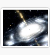 A rare galaxy that is extremely dusty, and produces radio jets Sticker
