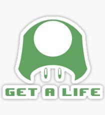 1-UP Get a life Sticker