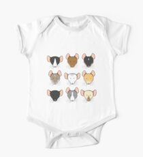 Ratty Faces One Piece - Short Sleeve
