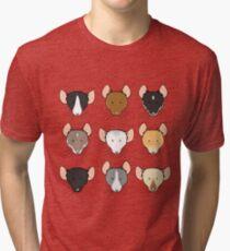 Ratty Faces Tri-blend T-Shirt