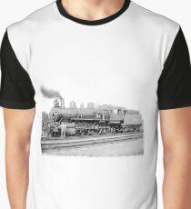 Old Steam Train Graphic T-Shirt
