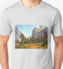 Bierstadt Bridal Veil Falls, Yosemite Valley Unisex T-Shirt