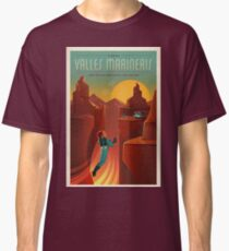 Weinlese SpaceX Valles Marineris Mars Reise Classic T-Shirt