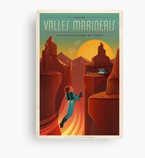 Vintage SpaceX Valles Marineris Mars Travel Canvas Print