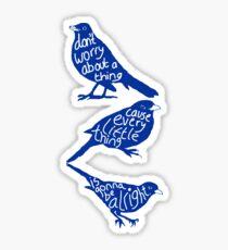 three lil birds. Sticker