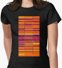 Sunrise spectrum data glitch Womens Fitted T-Shirt