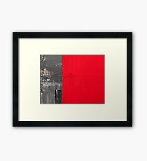 Love and shadow abstract II Framed Print