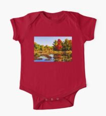 Impressions of Forests - Bright Red Maple, Reflected Kids Clothes