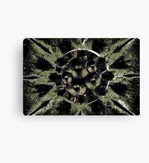 Green and black music speakers  Canvas Print