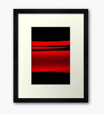 Abstract Red Light Strokes Framed Print