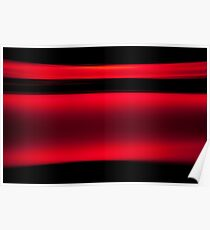 Abstract Red Light Strokes Poster