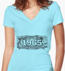 Born in 1965 limited edition Women's Fitted V-Neck T-Shirt