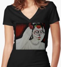 Bride of Death Women's Fitted V-Neck T-Shirt