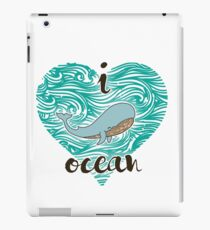 i love ocean (happy whale) Ocean iPad Case/Skin