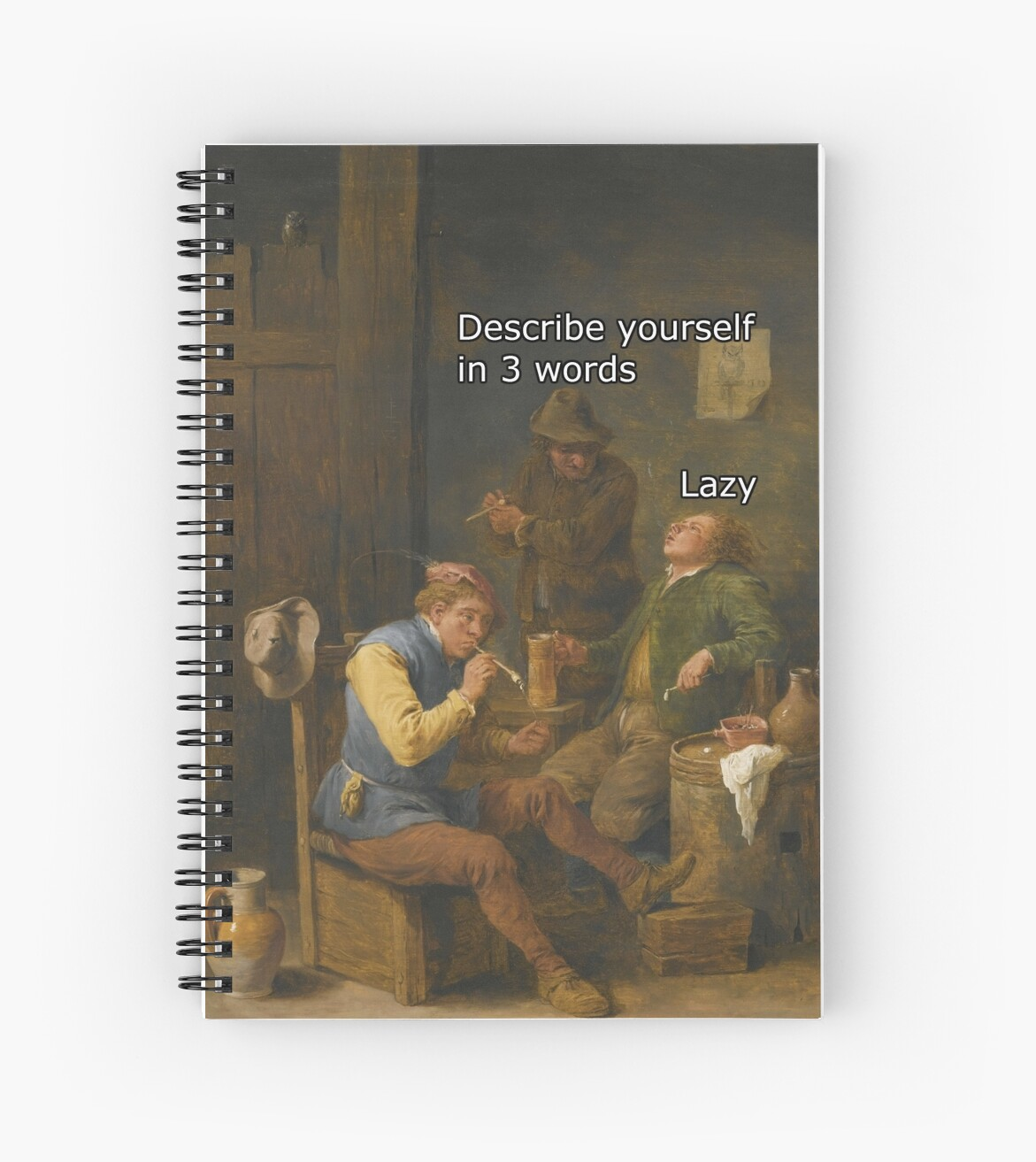 describe yourself in words spiral notebooks by classicalmemes describe yourself in 3 words