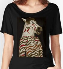 Miss Zebra Dressed In Her Best!  Women's Relaxed Fit T-Shirt