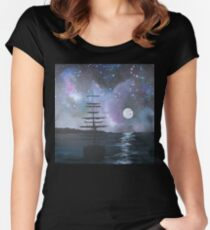 Neverland at Night 2 Women's Fitted Scoop T-Shirt