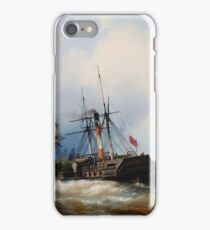Edwin Hayes  A PADDLE STEAMER CLEARING HER MOORING ON THE THAMES iPhone Case/Skin