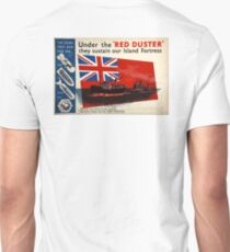 WAR POSTER, Red Duster, Red Ensign, UK, GB, Royal Merchant Navy, WWII, Poster T-Shirt