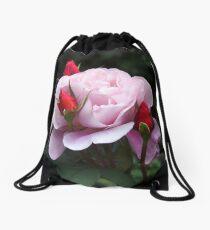 Rose and Buds Drawstring Bag