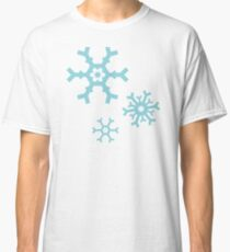 Blue Snowflakes Classic T-Shirt