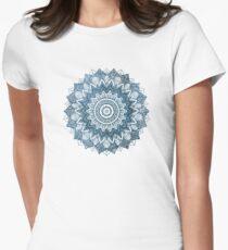 BOHOCHIC MANDALA IN BLUE Women's Fitted T-Shirt