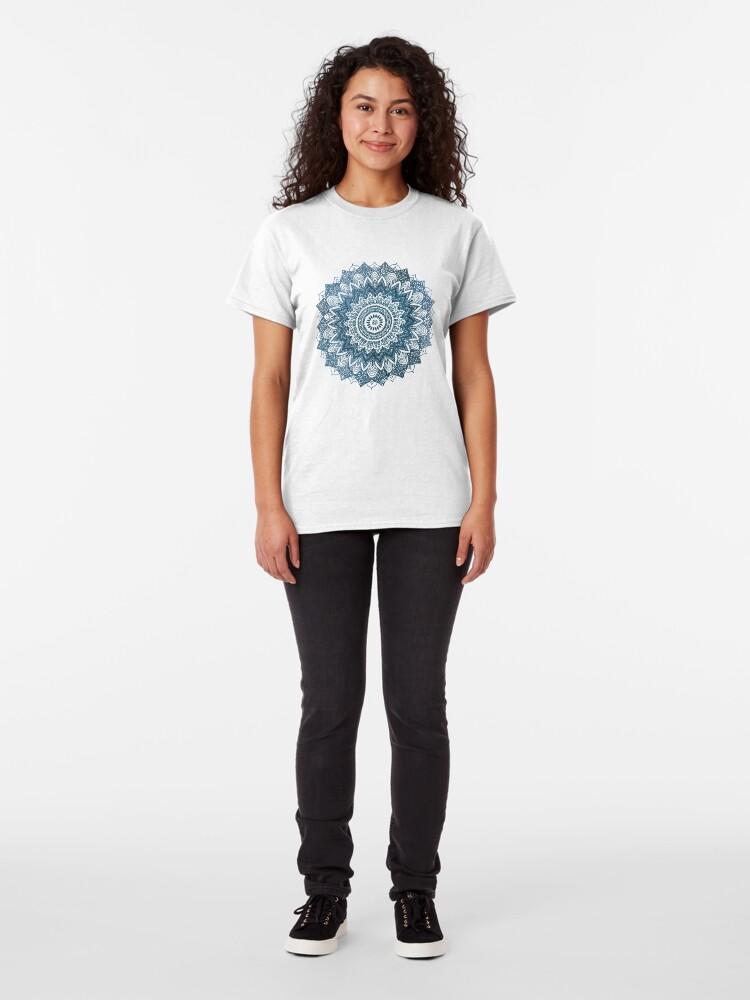 Alternate view of BOHOCHIC MANDALA IN BLUE Classic T-Shirt
