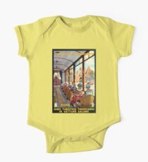 Rome Italy Interior luxury tourist tram Italian travel One Piece - Short Sleeve