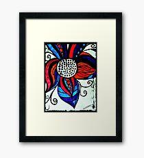 Rachel Doodle Art - Colorful Flower Framed Print
