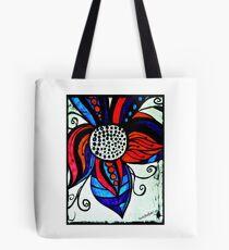 Rachel Doodle Art - Colorful Flower Tote Bag