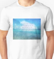Sea ocean quote by Henry Wadsworth Longfellow Unisex T-Shirt