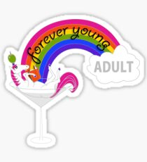 Forever Young Adult Official Logo Sticker