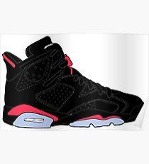 """Air Jordan VI (6) """"Black Infrared"""" Poster"""
