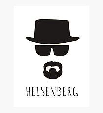 Heisenberg 'Walter White' Photographic Print