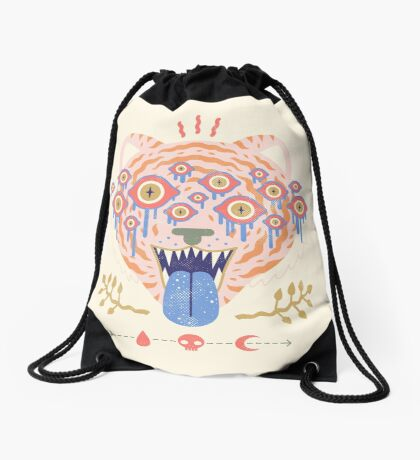 Eyes of the Tiger Drawstring Bag